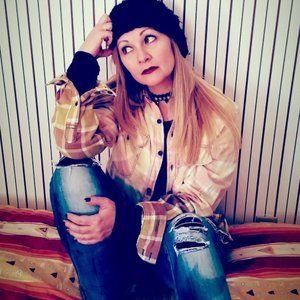 Refashioned 90's Grunge Flannel (M)